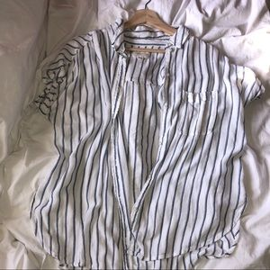 Striped Flowy Button Up 💨 - AE